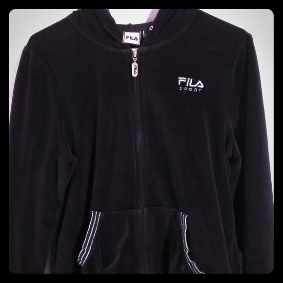 f83e1293 Fila sport zip up hoodie jacket women